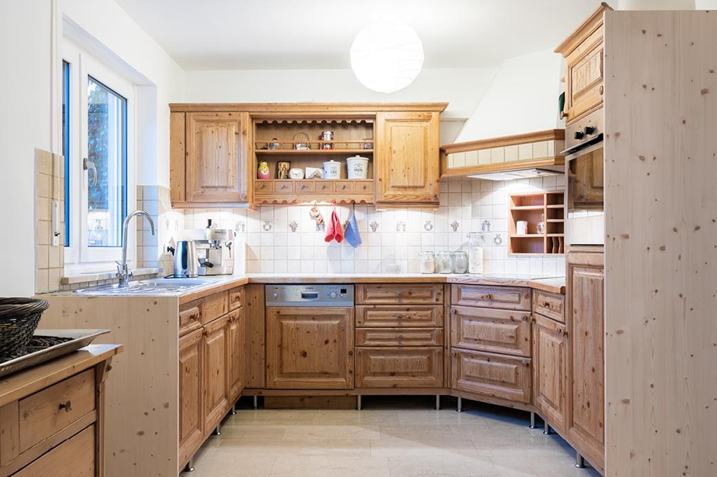 Küche Vorderansicht vorher